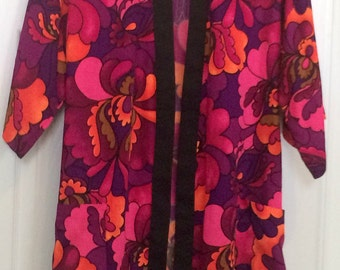 Vintage Hawaiian Kimono Robe M-XL