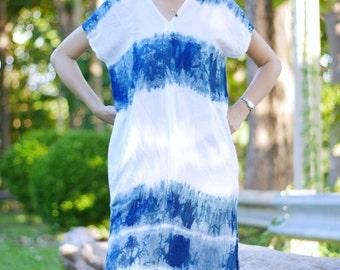 Short dress /Tie dye blouse /Blue tie dye shirt /90s hippie tie dye / tie dye dress /Indigo tie dye skirts /Festival clothing