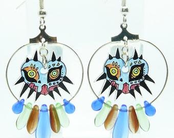 Earrings: mask of Majora