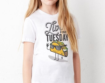 Taco Tuesday: Kid's Unisex Soft Blend T-Shirt