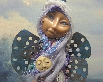 OOAK ART DOLL, Spirit of Creativity and Inspiration, little dragonfly