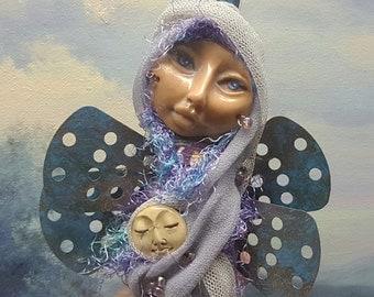 OOAK ART DOLL, Spirit of Creativity and Inspiration, little dragonfly