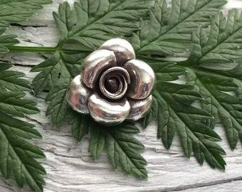 Hill Tribe silver  charm rose dangle charm fine silver .999