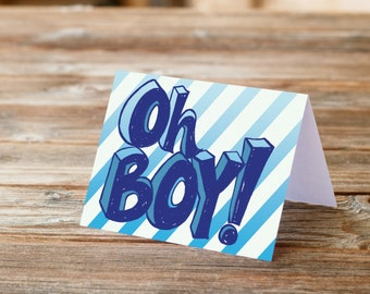Expecting Pregnancy Baby Boy New Baby Boy blue Congratulations Greeting Card