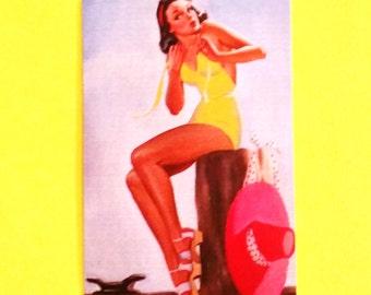 Pinup Girl Retro  Dockside Delight Darling Summer Fun Flirty Gal Bicycle Babe Bikini Sweetie Panel Pink Skull Vinyl Sticker - More Styles
