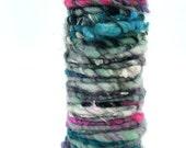 Yarn Wrapped Bud Vase or Pencil Holder- Handspun Yarn, Hand Dyed, Art Yarn, Display Idea, Sculpture