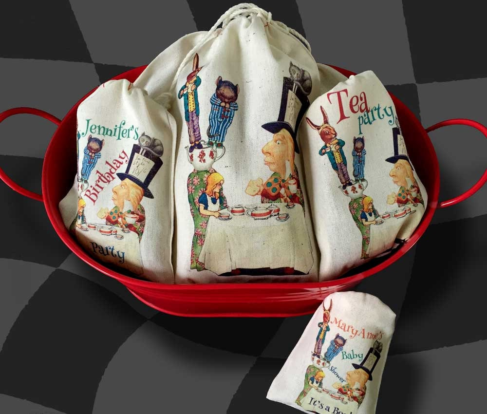 Mad Hatter Tea Party Favor Bags Alice In Wonderland Party
