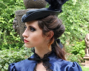 Lady Adventuress Leather Steampunk Riding Hat