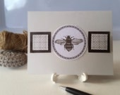 All Occasion Handmade Note Card / Bee / Thank You Birthday Just Because