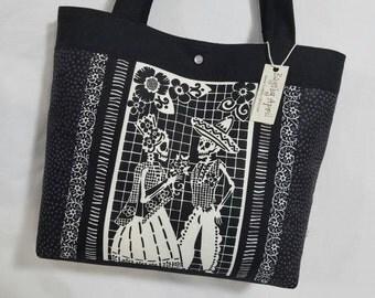 Day of the Dead Calavera Skeletons Dancing Halloween purse tote bag handbag