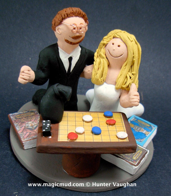 Board Game Wedding Cake Topper