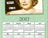 """Retro Humor: """"The Rules Don't Apply To Me"""" 2017 Full Year View Calendar - Magnet or Wall #3812"""