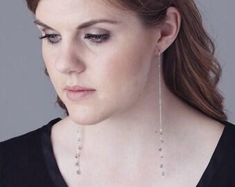 Rutilated Quartz shoulder duster earrings