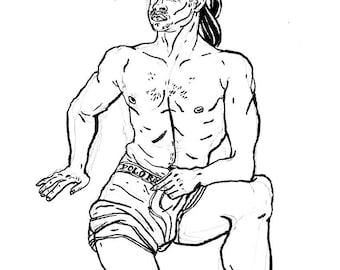 Original Drawing - Male 08