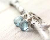London Blue Topaz Briolette Silver Earrings