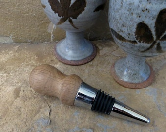 Bottle Stopper - Hand Turned Wood - Gambel Oak