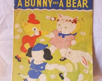 1937 A Kitten Puppy Bunny & BEAR by E. Keto Illustrated  Whitman