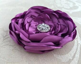 Orchid Flower Hair Clip.Orchid Flower Brooch.Pin.Bridesmaid.Headpiece.Purple flower.hair accessory.radiant orchid flower.orchid purple.girl