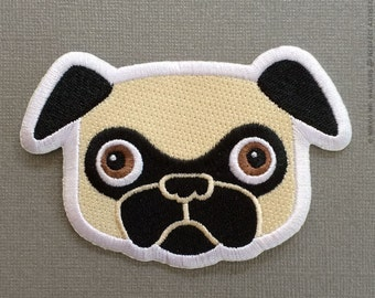Tricky Fawn Pug Patch