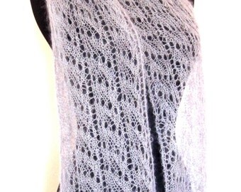 Lace Scarf, Silver Gray, Wedding, Anniversary, Prom.