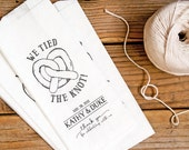 Philly Pretzel Bag - We tied the knot - Tall Philly Pretzel Favor Bag or Pretzel Stick Bag  - Custom Names and Colors  - 20 Popcorn Bags