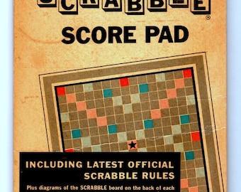 Vintage 1953 Official Scrabble Score Pad, Latest Official Scrabble Rules