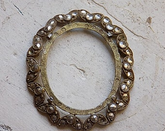 Vintage Victorian Marquisate Brooch Setting Piece Scrap Embellishment