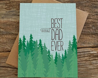 funny father's day card / average dad