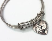 Adjustable Expandable Mother Daughter Gift Charm Bracelet Set