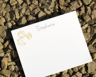 Geometric Personalized Stationery - Perfect Gift - Personalized Stationery - Notepads and Notecards