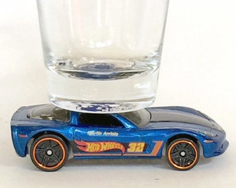 The ORIGINAL Hot Shot Shot Glass,  Chevy C6 Corvette, Hot Wheels