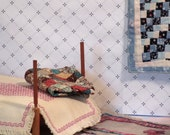 Miniature quilt or throw diamond pattern