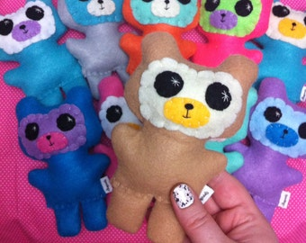 Little Bearling - Small Eco-friendly Felt Plush Bear - Include your custom colour preferences!