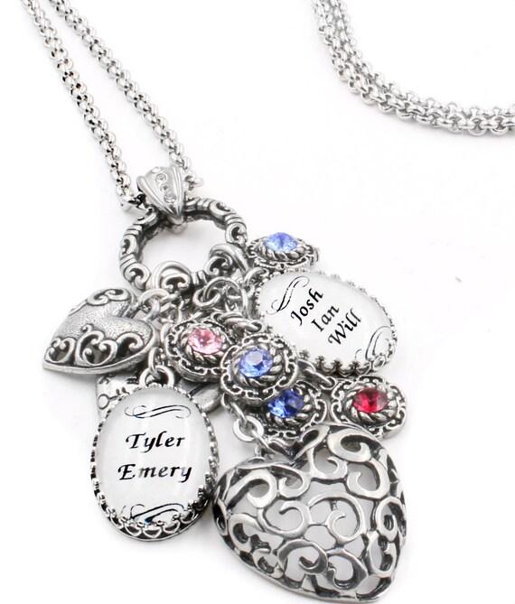 grandmother jewelry nana birthstone necklace by