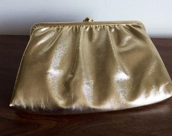 Vintage Gold Evening Bag or Clutch Purse