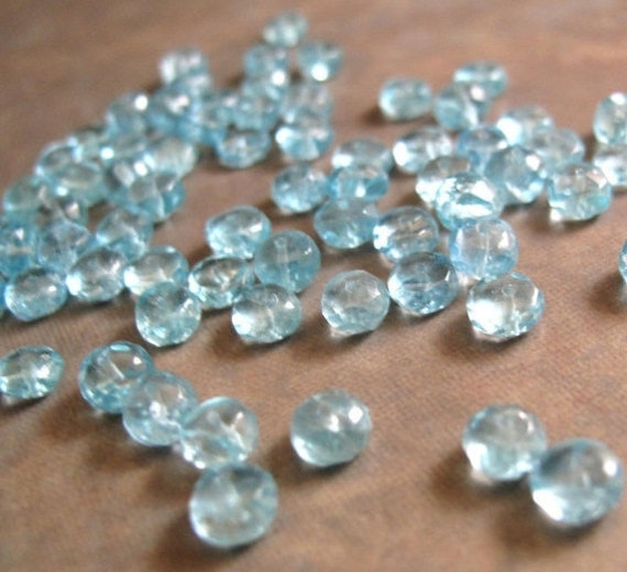 Beautiful Apatite Beads, 5mm Rondelles for Making Jewelry - 15 Count of Natural Gemstone Beads (L-Ap1)