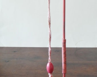 Metal Hat Stand w Spring & Pull Cord to bend the Pole . Mount on Shelf or Dresser Lip Antique Hat Stand