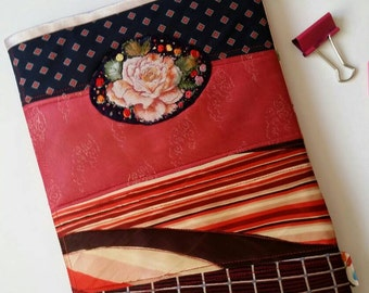 RESERVED for Terry B - ROSE - Notebook planner Cover with medallion featuring a beautiful rose