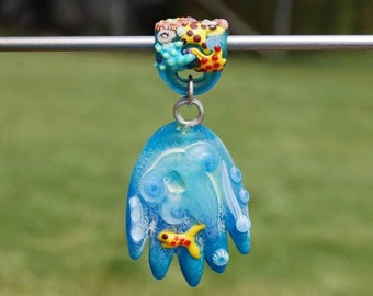 Bernadette Fuentes Ocean Theme Pendant - DESTASH of koregons artist bead collection
