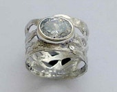 RESERVED for LEANNE - , braided silver band, wide silver ring, oxidized silver, latticed silver band - Endless night R1345A