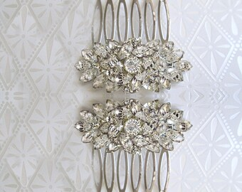 Bridal hair combs, small crystal comb, hair accessories, wedding hair comb, rhinestone comb, bridesmaid hair clip