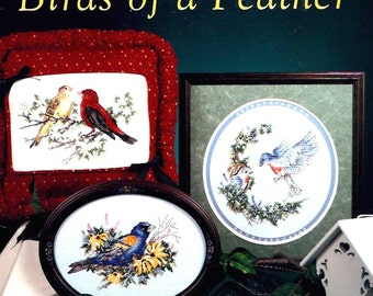 Stoney Creek Birds collection Book No 116 needlepoint patterns 1990s vintage booklet with cross stitch patterns