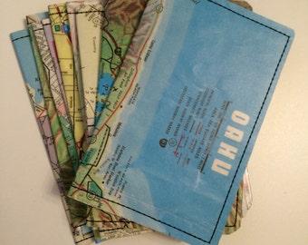 Slim Wallet- Oahu, Hawaii Map- Choose 1