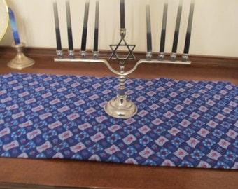 Chanukah Hanukkah Table Runner Jewish Holidays