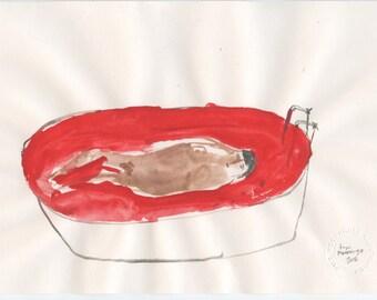 Original Illustration - blood bath