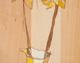 Floral Canvas Prints by Jennifer Mercede 36x18