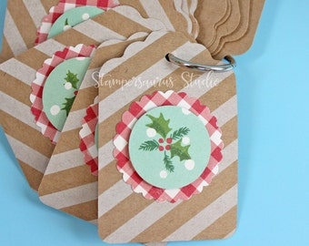 12 pc. RETRO STRIPED Tags