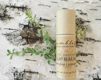 Natural Lip Balm | Lavender Rosemary Lip Salve | Lip Butter | Herbal Lip Balm | Lip Treatment | Unisex Lip Balm | Lip Balm Tube | Chapstick