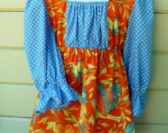 Juliette Blouse in Girl's Size 10 to 12 Ready to Ship