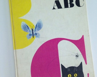 1960 First Edition Bruno Munari's ABC Hardcover Book